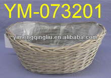 Cheap Wicker Basekt With Plastic Liner
