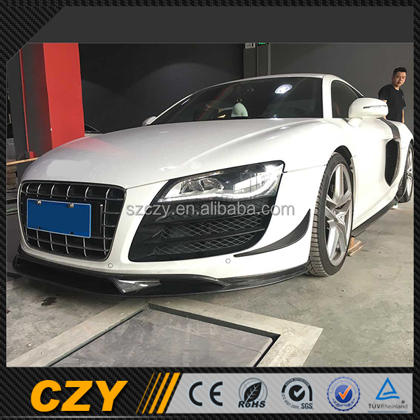 Auto Customized Carbon R8 V8 Side Bumper Skirt For Audi 08up