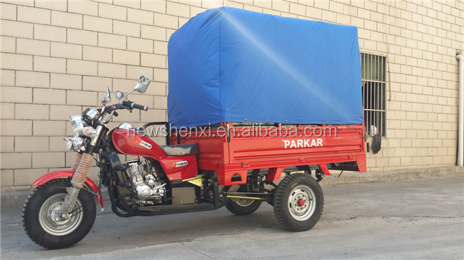 Shaft Drive 5 Speed CE ISO CCC 250CC Air Cooled Three Wheel Cargo Tricycle for Passenger Cargo