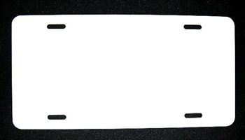 "White Dye Sublimation 6"" x 12"" Blank Wholesale Metal Novelty License Plate Tag Sign"