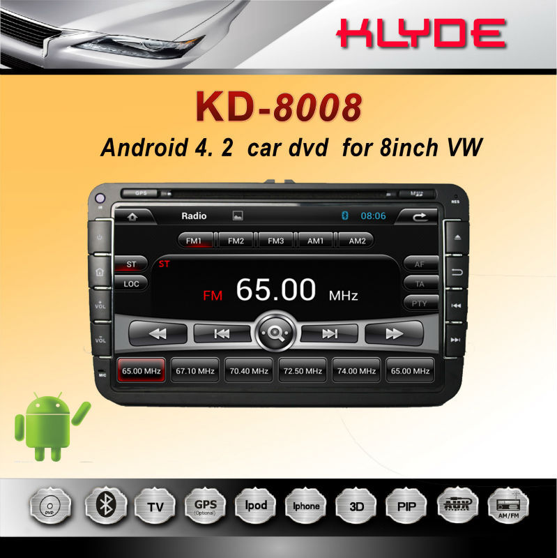 Pre-Installed Maps Android 4.2 Car Dvd for vw Touran Cd Navigation
