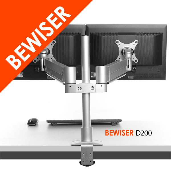 Flexible up to 30 inch vesa 100x100 dual monitor arm stand