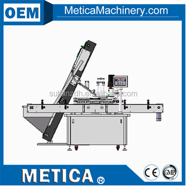 MTCP-100 automatic rotary plate capping machine with cap feeder
