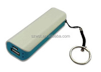 Hottest rechargeable aluminium 2600mah portable power bank charger 18650 usb charger universal portable cell phone charger