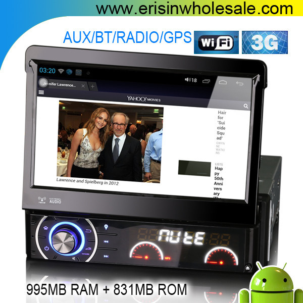 "Erisin ES8990A 7"" 1 Din Android 4.1.1 Car DVD with GPS WiFi 3G"