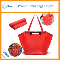 Foldable shopping bag reusable supermarket grocery foldable polyester shopping bag