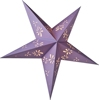 Christmas Ornaments Purple hollow out pattern star paper lantern