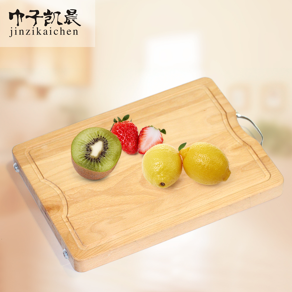 Organic Eco-Friendly Wooden Kitchen Non-Slip Bamboo Wood Chopping Tray and Cheese Plate
