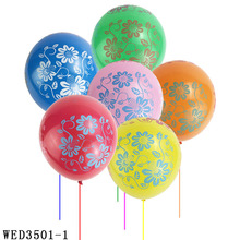 12inch Flower Printed Balloons One Full Year Of Life Happy Birthday Balloon For Party Decoration