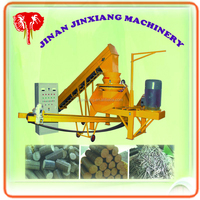 machine making briquette by raw rice husk