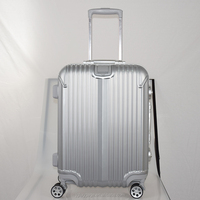 fashion aluminum trolley travel luggage new ABS PC luggage cabin size travel abs hard shell luggage