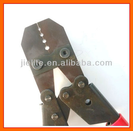 Wire rope swaging tool, copper sleeve, aluminum ferrules