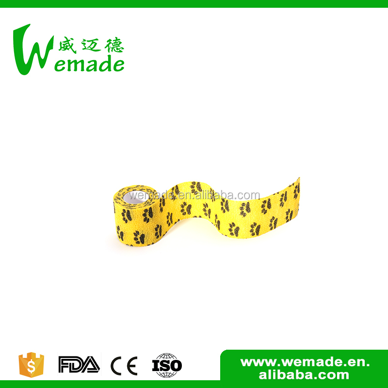 Wuxi Wemade Medical surgical consumables printed pet wrap beautiful vet bandages
