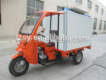 The 2017 new closed cabin motor tricycle electric 150cc three wheel truck cargo scooter