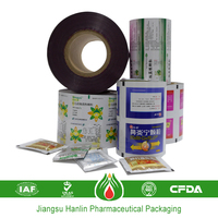 Composited color laminating sanitary plastic film roll for pharmaceutical packaging material