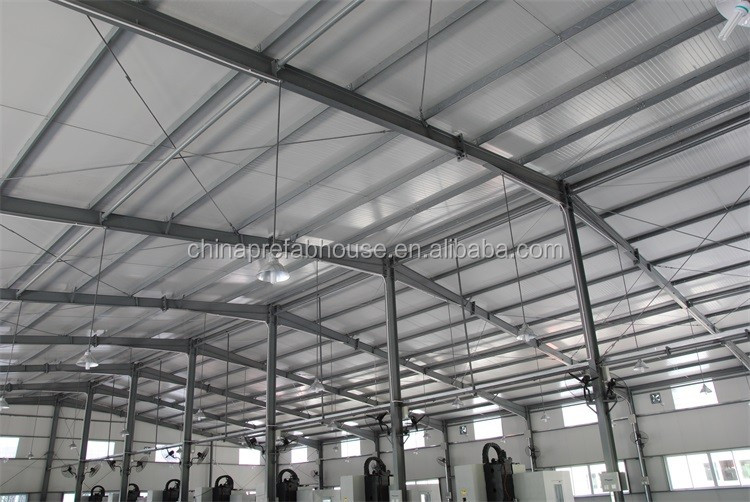 steel garage storage shed Small steel frame modular warehouse building to nepal