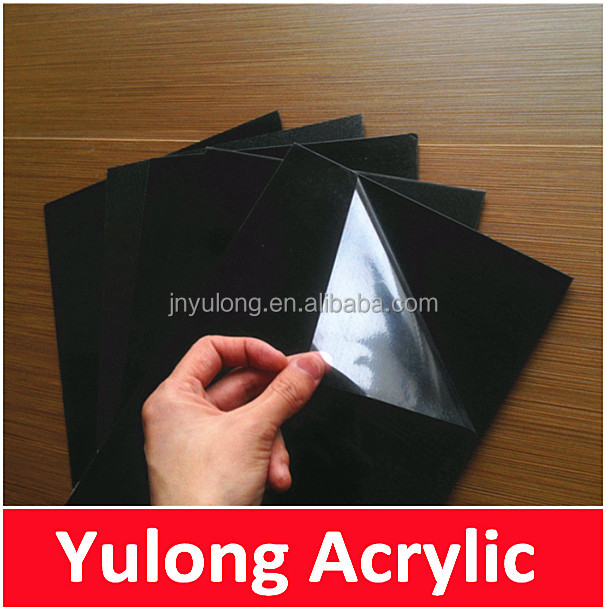Black Self Adhesive PVC Sheets for Wedding Photo Album