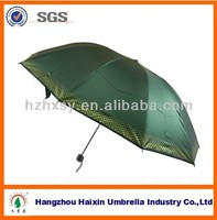 Three folding umbrella with strong metel frame