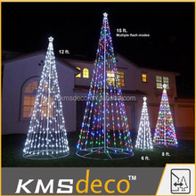 IP44(ID/OD) led cone tree/ artificial silhouette christmas tree decoration