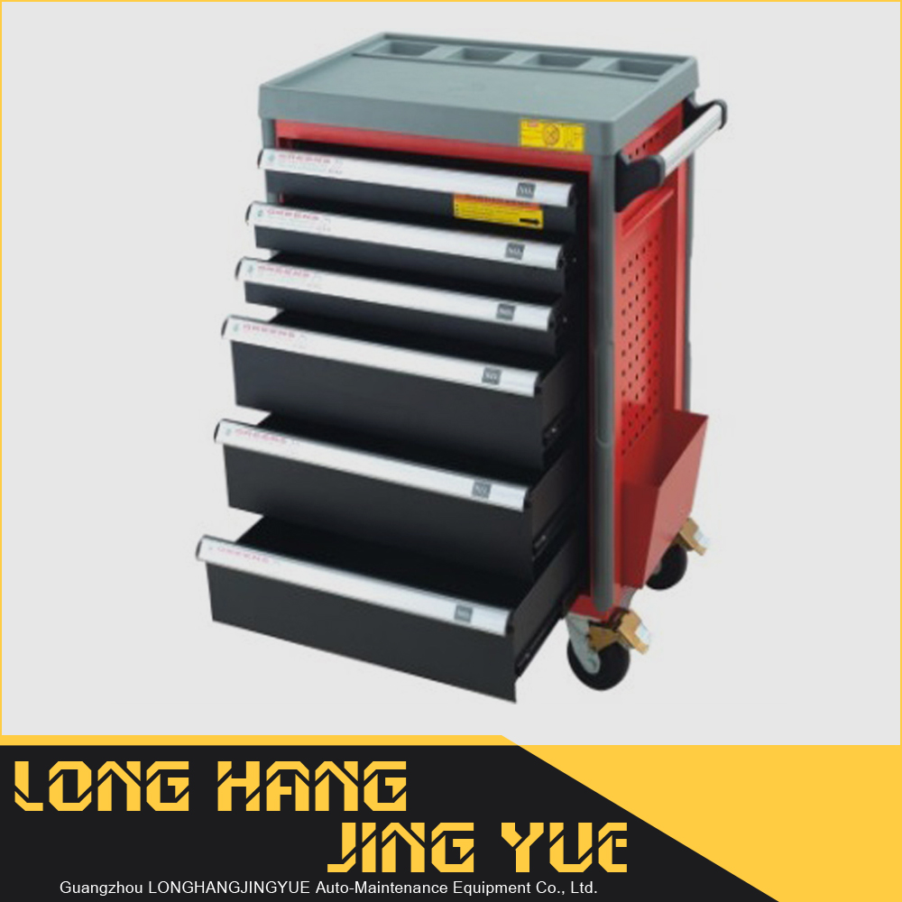 Aluminium alloy hand slap,safety with brake wheels 6-drawer tool cabinet,storage trolley