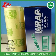 high quality SGS certificate food grade Pvc cling film wrap Plastic wrapping film