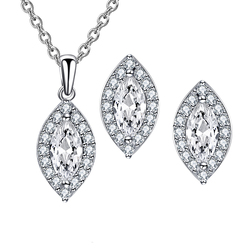 Value 925 Silver Wedding Bridal Women Jewelry Set
