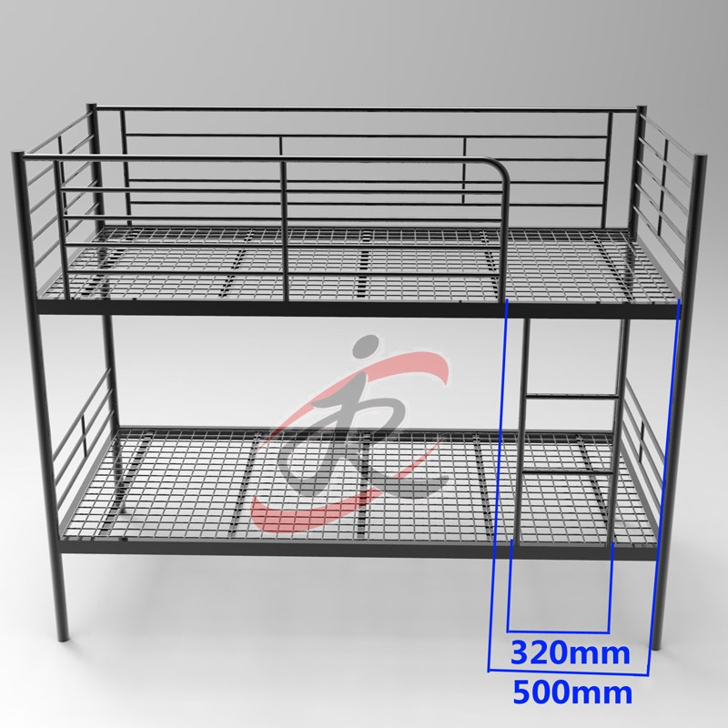 China Factory Directly sale cheap Steel bunk bed frame for Hotel