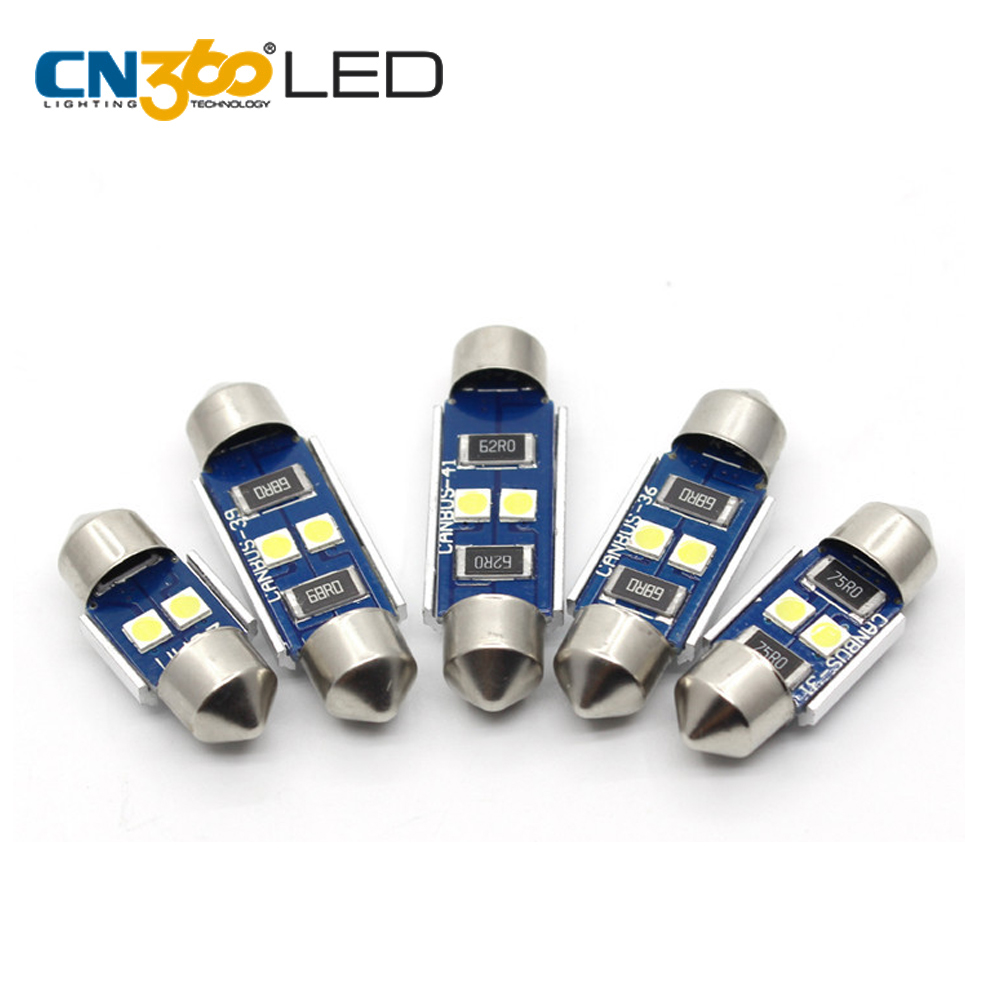 CN360 auto part accessories 3030 2smd Interior Festoon 39mm LED make up mirror light bulb