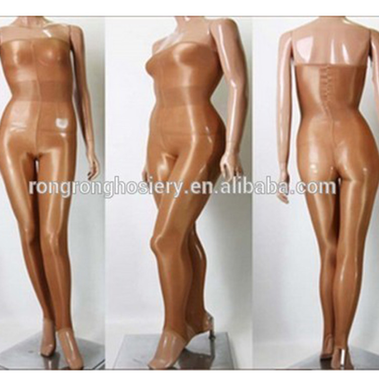 Sexy Shiny Glossy Oil Body stocking Dance Thigh high Tights One Line Shaping night club dance wear