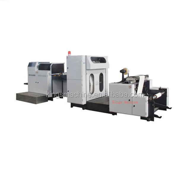 Kings Machine High Speed KFC FOOD Paper Bag Making Machine Price