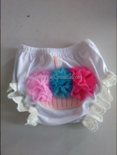 Hot Sale Baby Ruffle Cotton Diaper Cover Toddler Infants Bloomers Baby Solid Panties Bloomer Kids Bloomers With Chiffon Bows