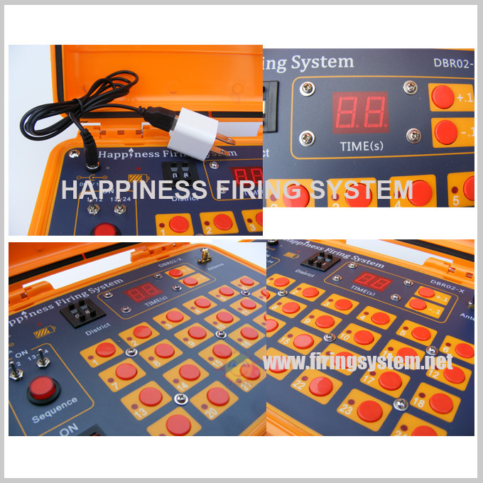 500M rechargeable fireworks System/ 48 cues pyrotechnic fire system/Sequential happiness firing system