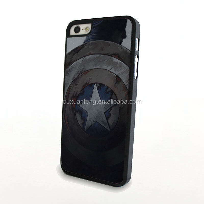Best Quality Cell Phone Case For Iphone 5/5s With Captain America Design