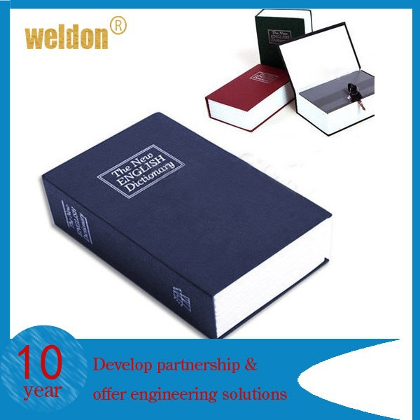 Metal Homesafe Security Dictionary Book Cash Jewelry Key lock Storage Box