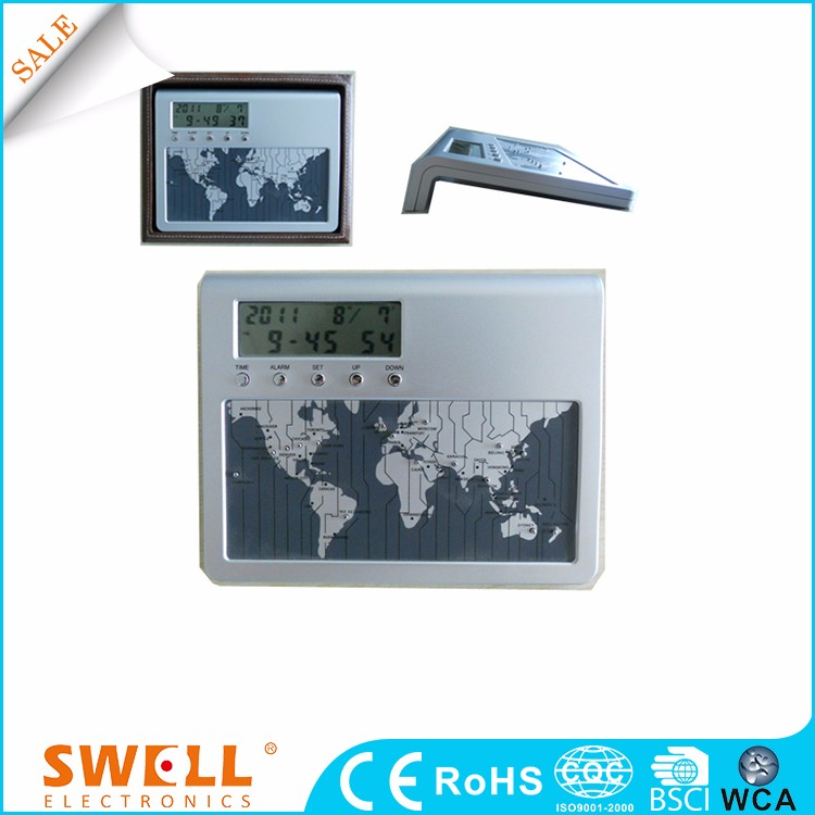 hot sale world time zone wall clock , date and time wall clock