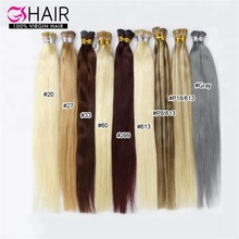 GS colored 100 remy human itip hair extensions