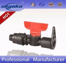 reliable irrigation system mini plastic check valve for pe pipe connector