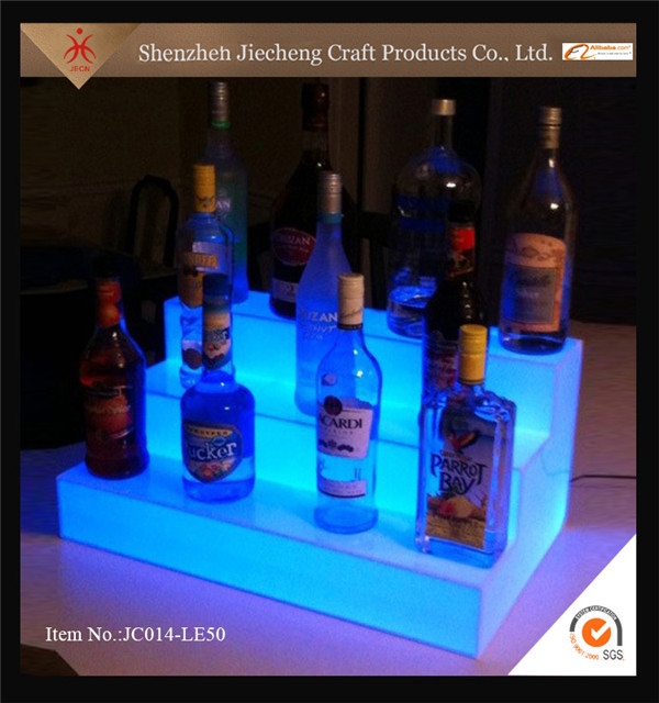 Top selling elegant led bar cheap acrylic beer bottle display case