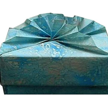 High quality fabric covered cardboard top and bottom gift box