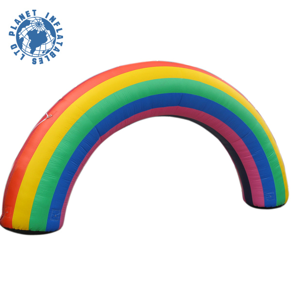 Giant Outdoor Event Inflatable Rainbow Arch For Promotion