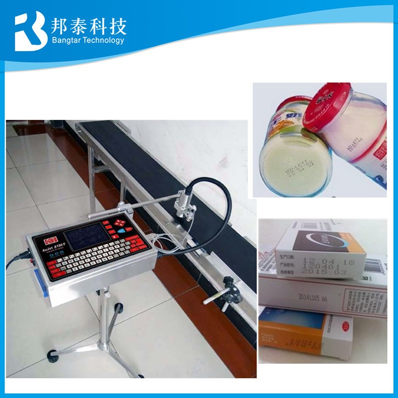 Plastic bag pet bottles inkjet coding printer expiry date printing machine