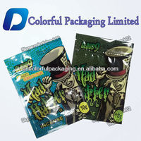 Customized second Generation 10g 4g 3g Mad Hatter potpourri herbal incense foil ziplock packaging bag