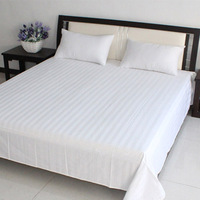 Factory Made White Cotton Patch Work Bed Sheets