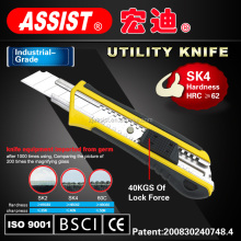 Multi function led light utility knife with SK4 blade 18mm cutter tool