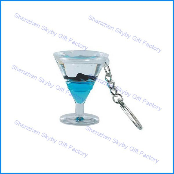 Beer Cup Shape Custom Polyresin Floater Floating Key Chain