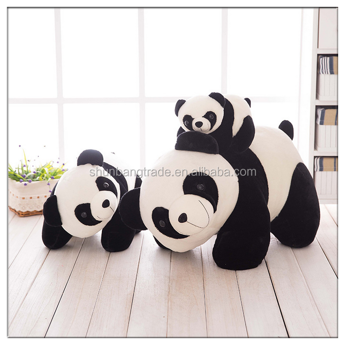 Factory customized cute plush panda bear stuffed animal toy