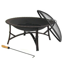 Outdoor Steel Hammered Edge Fire Pit