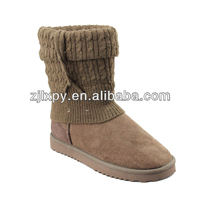 7128 choco winter boots with knitted wool sock
