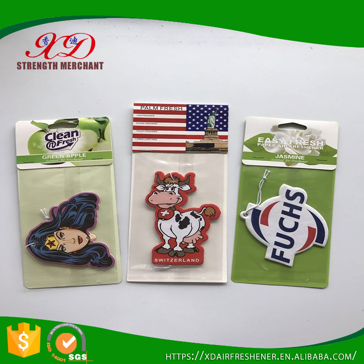 Wholesale Various Scents Custom Paper Car Air Freshener Perfume