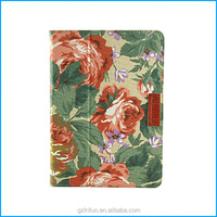 Beautiful designed canvas stand case for iPad air 5 cheap tablet case-peony flower